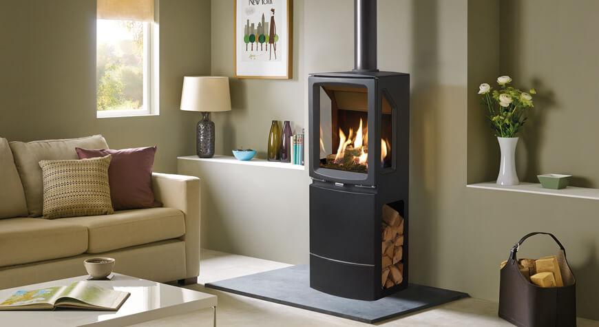 Gazco Vogue Midi T | Flames of Newark | Stoves | Fireplaces